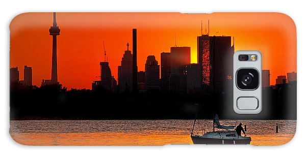 Sunset Sail Ashbridges Bay Toronto Canada Galaxy Case