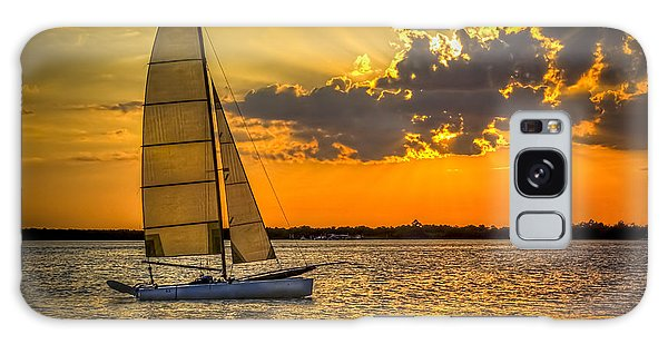 Sunset Sail Galaxy Case by Marvin Spates
