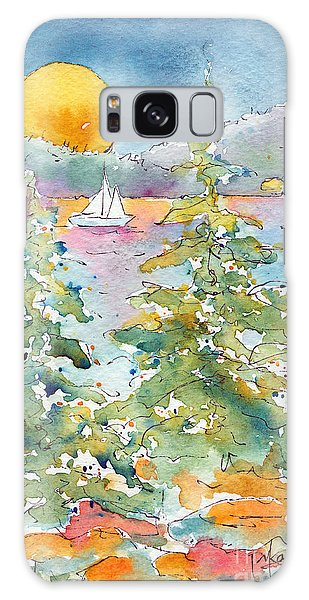 Sunset Sail On Waskesiu Lake Galaxy Case