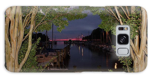 Sunset Sailboat Frame Galaxy Case by Kelly Reber