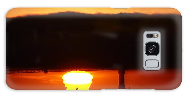Sunset Sailboat Galaxy Case by Michael Courtney