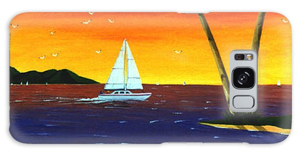 Sunset Sails Galaxy Case by Lance Headlee