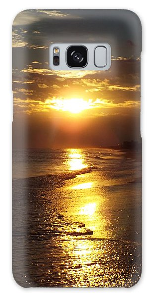 Sunset  Sand  Waves Galaxy Case by Cindy Croal