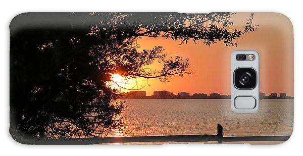 Sunset On Sarasota Harbor Galaxy Case