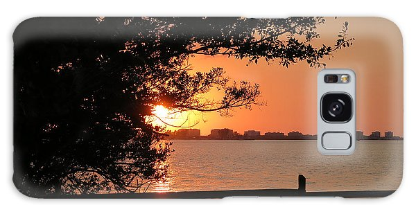 Sunset On Sarasota Harbor Galaxy Case