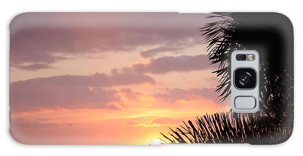 Sunset Silhouette 4 Galaxy Case by Karen Nicholson