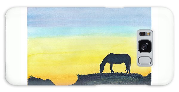 Sunset Silhouette Galaxy Case by C Sitton
