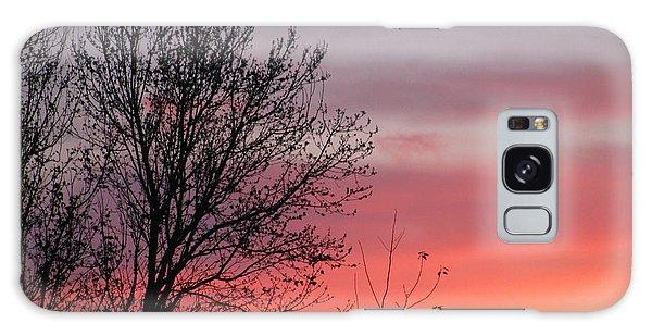 Sunset Silhouette Galaxy Case by Ellen Meakin