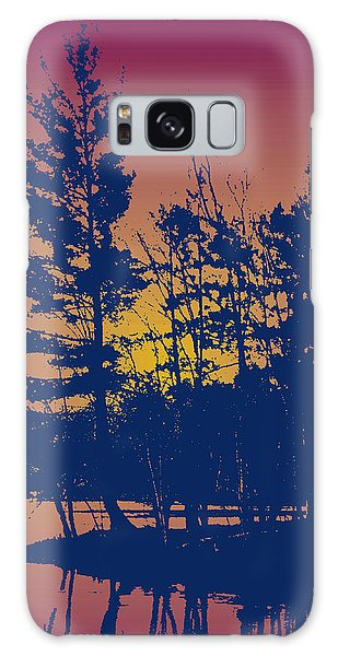 Sunset Silhouette Galaxy Case