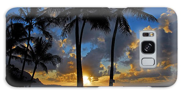 Sunset Silhouettes Galaxy Case by Lynn Bauer