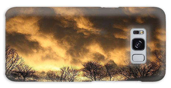 Sunset Silhouettes Galaxy Case by Nareeta Martin
