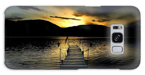 Sunset Skaha Lake Galaxy Case by Guy Hoffman