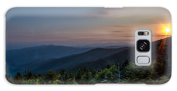 Sunset Smokey Mountains  Galaxy Case