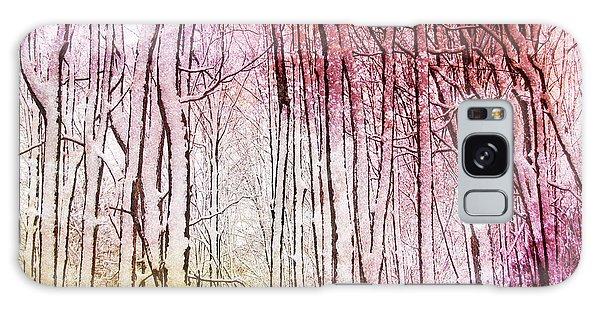 Sunset Snow Twigs Galaxy Case