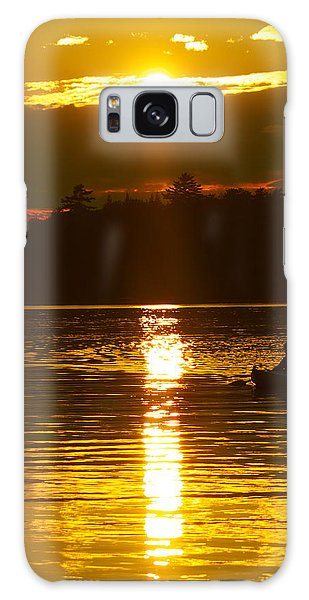 Sunset Solitude  Galaxy Case by Alice Mainville