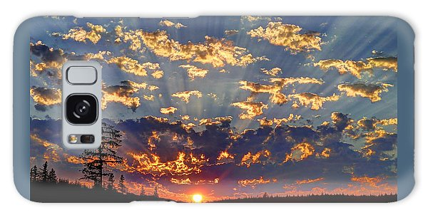 Sunset Spectacle Galaxy Case by Peter Mooyman