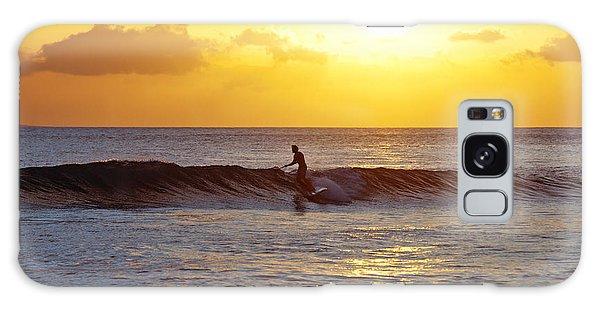 Sunset Surf Maui Galaxy Case