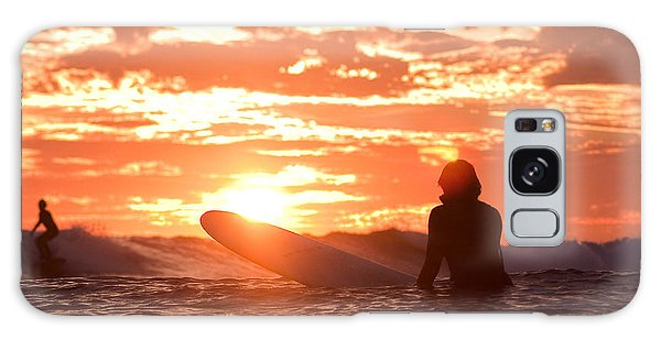 Sunset Surf Session Galaxy Case