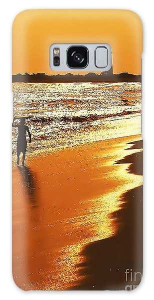 Sunset Surfer Galaxy Case
