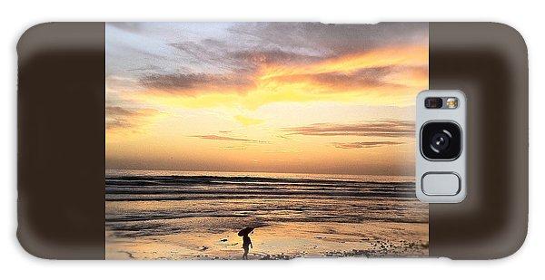 Sunset Surfer Galaxy Case