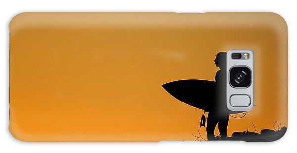 Sunset Surfing Galaxy Case