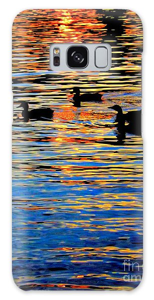 Sunset Swim Galaxy Case by Robyn King