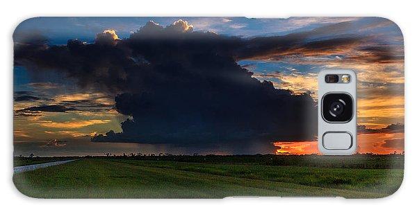Sunset Through The Rain Galaxy Case