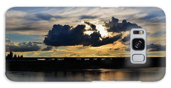 Sunset Through The Thunder Cloud Galaxy Case