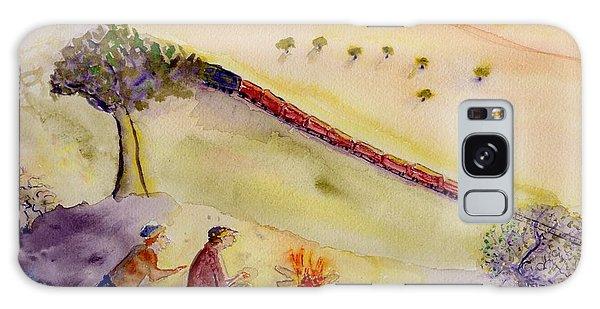 Sunset Train Galaxy Case