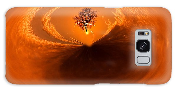 Sunset Tree Artwork Galaxy Case