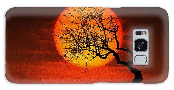 Sunset Tree Galaxy Case