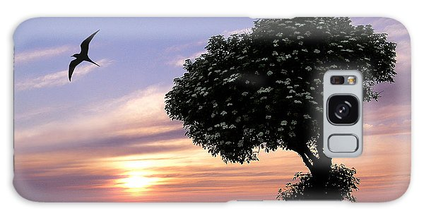 Sunset Tree Of Tranquility Galaxy Case