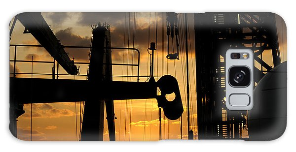 Sunset Viewed From An Oil Rig Galaxy Case