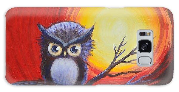 Sunset Vortex With Owl Galaxy Case by Agata Lindquist
