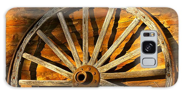 Sunset Wagon Wheel Galaxy Case by Michael Cinnamond
