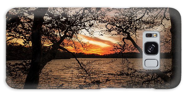 Sunset Wakeby Pond Galaxy Case