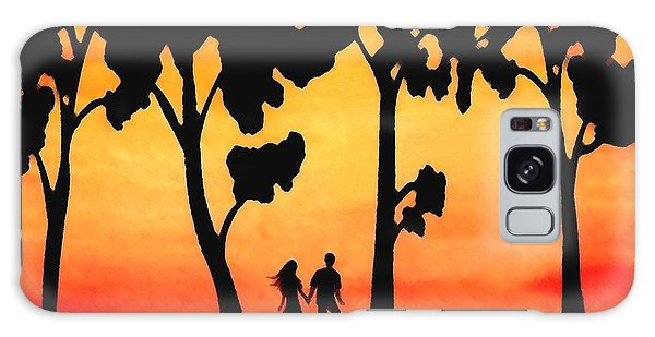 Sunset Walk Galaxy Case by Sophia Schmierer