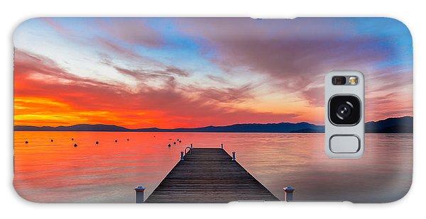 Beautiful Sunrise Galaxy Case - Sunset Walkway by Edgars Erglis