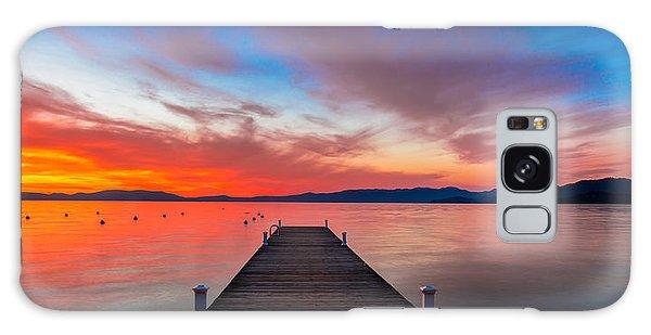 Lake Galaxy Case - Sunset Walkway by Edgars Erglis