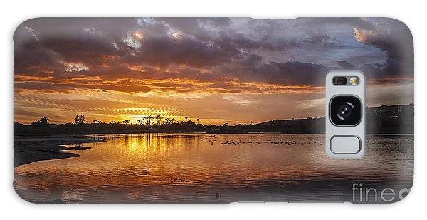 Sunset With Clouds Over Malibu Beach Lagoon Estuary Galaxy Case