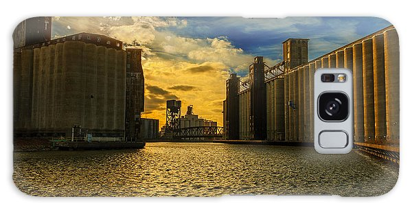 Sunsets On A River Through An Industrial Canyon Galaxy Case