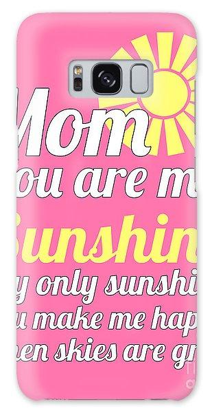 Sunshine Mom - Pink Background Galaxy Case