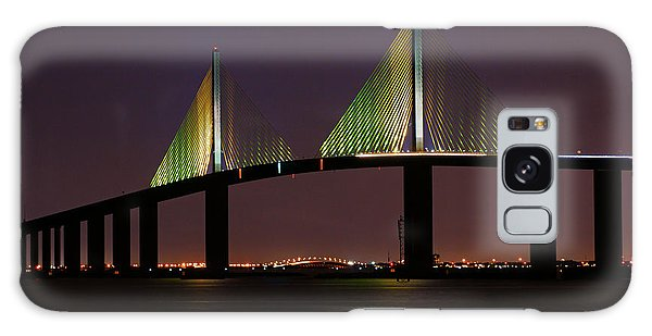 Sunshine Skyway At Dusk Galaxy Case by Daniel Woodrum