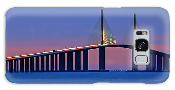 Sunshine Skyway At Dusk II Galaxy Case by Daniel Woodrum