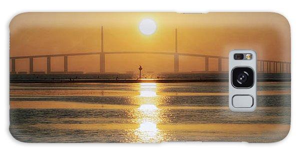 Galaxy Case featuring the photograph Sunshine Skyway Bridge Sunrise by Steven Sparks