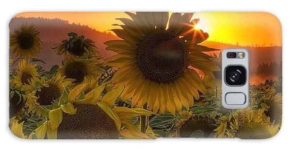 Florals Galaxy Case - Sunst And Sunfloers  #sunset by Mark Kiver