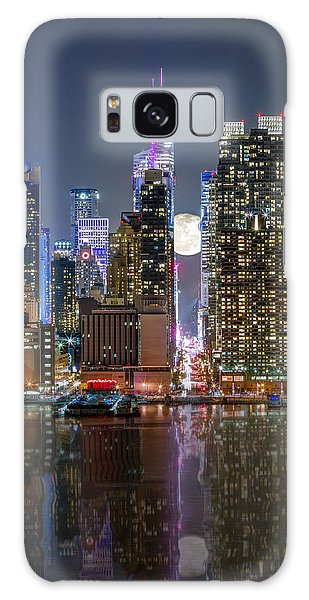 Super Moon At 42nd Street  Galaxy Case