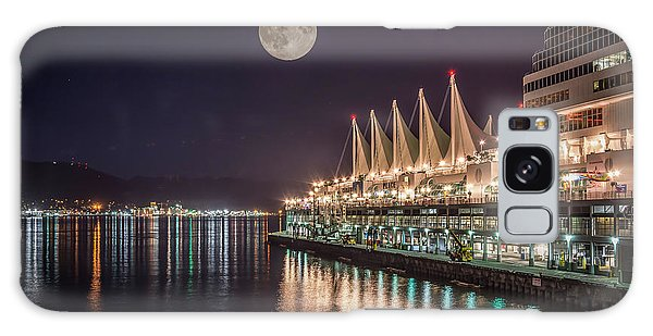 Super Moon Over Canada Place Vancouver - By Sabine Edrissi Galaxy Case