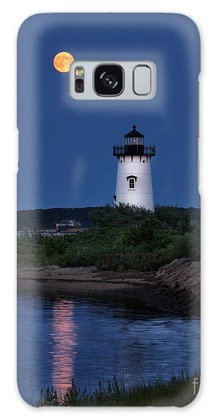 Super Moon Over Edgartown Lighthouse Galaxy Case