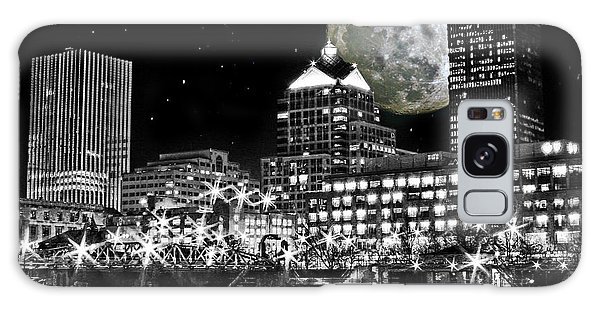 Super Moon Over Rochester Galaxy Case by Richard Engelbrecht